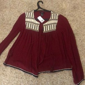 Forever 21  Woven Cardigan